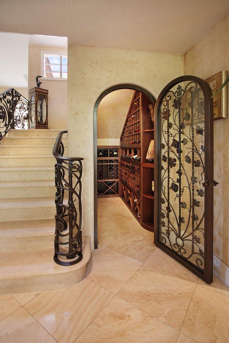 best wrought iron wine cellar door images on pinterest entrance