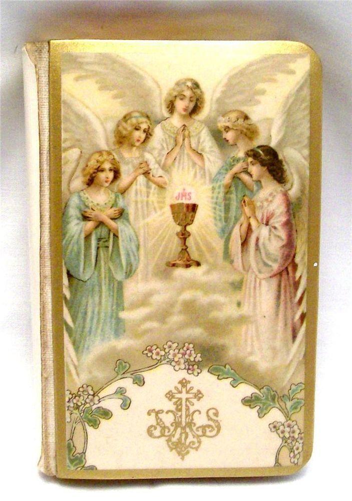 1931 Gods Child A First Communion Prayer Book Celluloid
