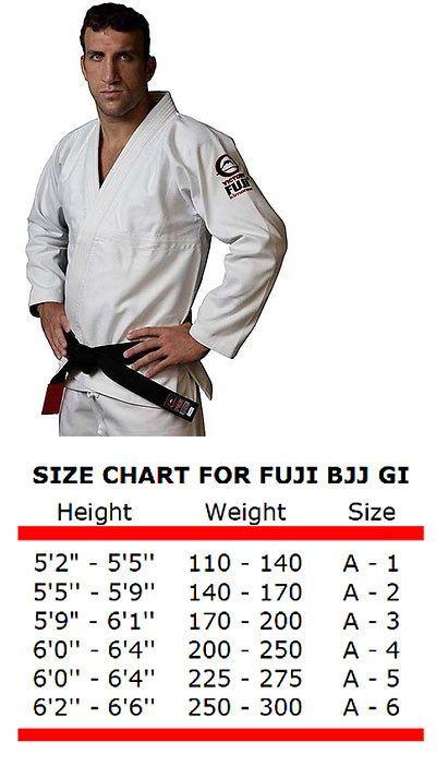 Uniforms and Gis 179774: Fuji Brazilian Jiu Jitsu All Around White Bjj Gi -> BUY IT NOW ONLY: $94 on eBay!