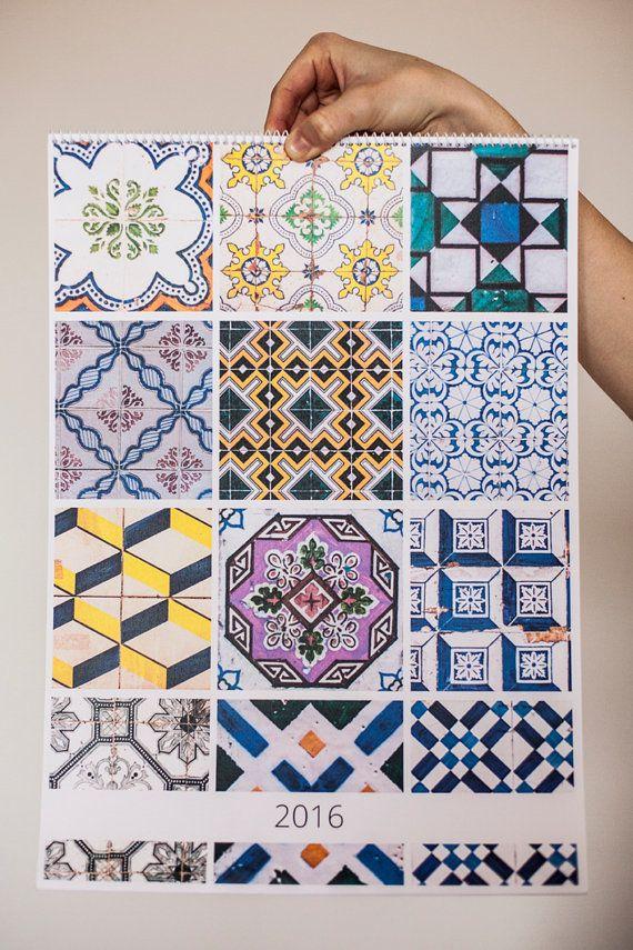 2016 wall calendar. A3 size. 12 months patterns. by KatieLuka