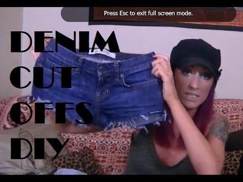 AbiDashery YouTube Tutorial DIY Denim Cut Off Frayed Shorts