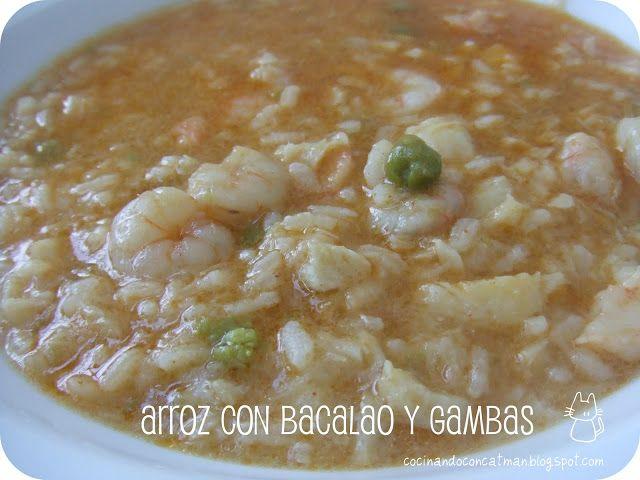 receta Thermomix de arroz con bacalao y gambas