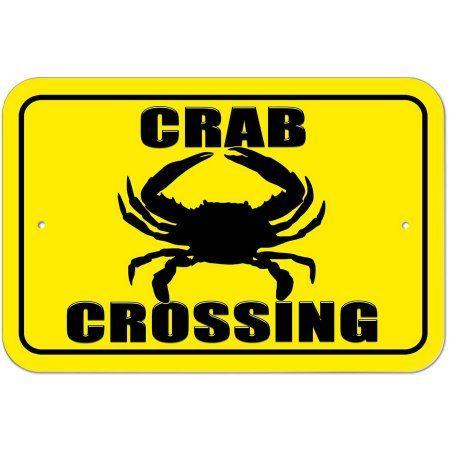 Crab Crossing Sign