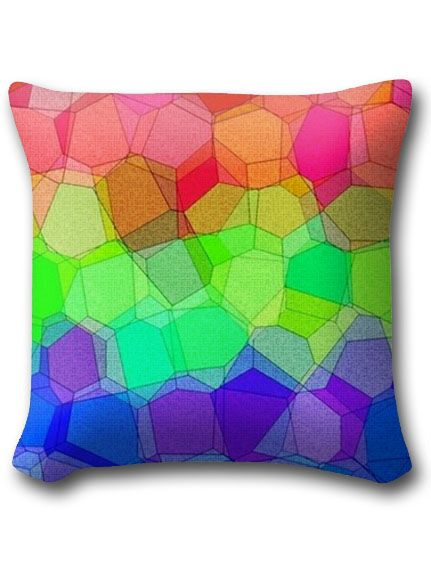 Martian Tricolore Woven Throw Pillow - with a vibrant pattern of multi-colored blocks inspired by the traditional colors of the planet Mars: red, green and blue. For a spatial touch to beds, chairs and sofas.