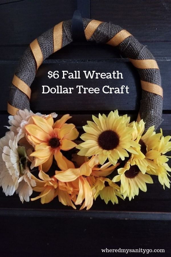Dollar Tree Fall Wreath Tutorial That Takes Only 5 min {Dollar Store Crafts}