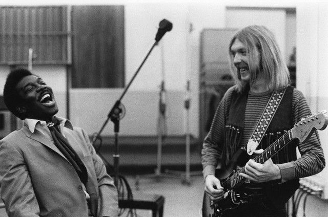 "Wilson Picket and Duane Allman, Muscle Shoals Studio, working on ""Hey Jude"""
