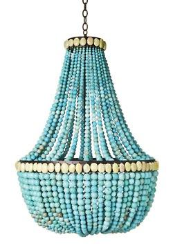 turquoise chandelier