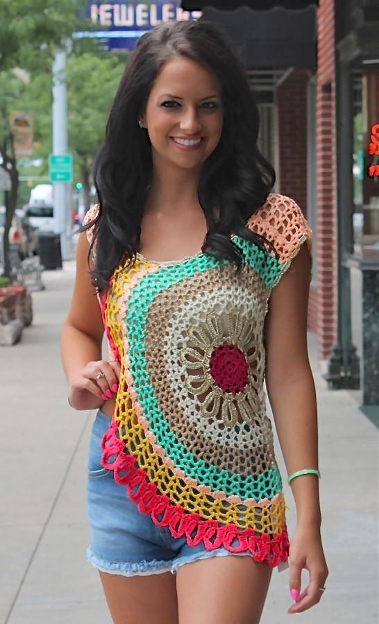 THE BARBRA crochet top