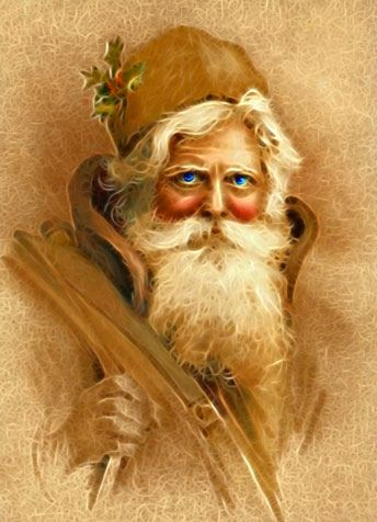 Old World Santa Claus, Vintage Victorian St. Nick in digital art, Fractalius Filter by Redfield, via Flickr.