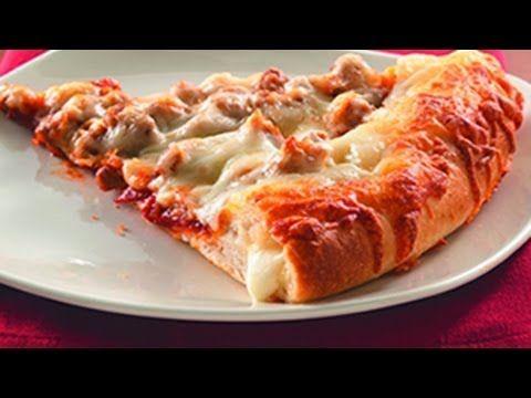 ¿Como hacer PIZZA CON ORILLA DE QUESO y PIZZA CON DEDITOS DE QUESO? Receta de pizza fácil - YouTube