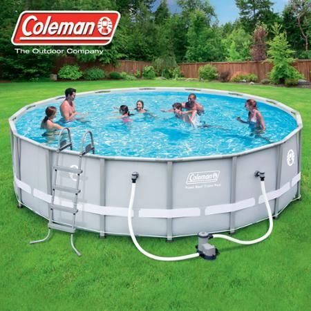 "Coleman 16' x 48"" Power Steel Frame Above-Ground Swimming Pool Set - Walmart.com"