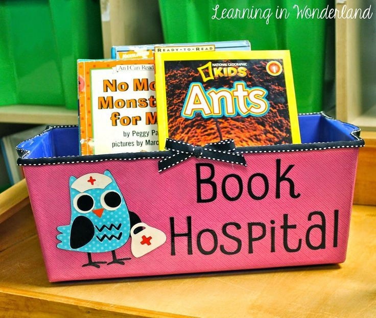 Every classroom library needs this. Get your class to put any damaged books in the book hospital.
