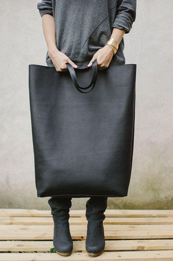 Noir surdimensionné géant Tote Bag sac géant par PatkasBerlin