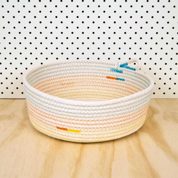 Hey, I found this really awesome homemade cotton bowl/basket. Etsy listing at https://www.etsy.com/listing/178073789/bowl-basket-extra-large-cotton-rope