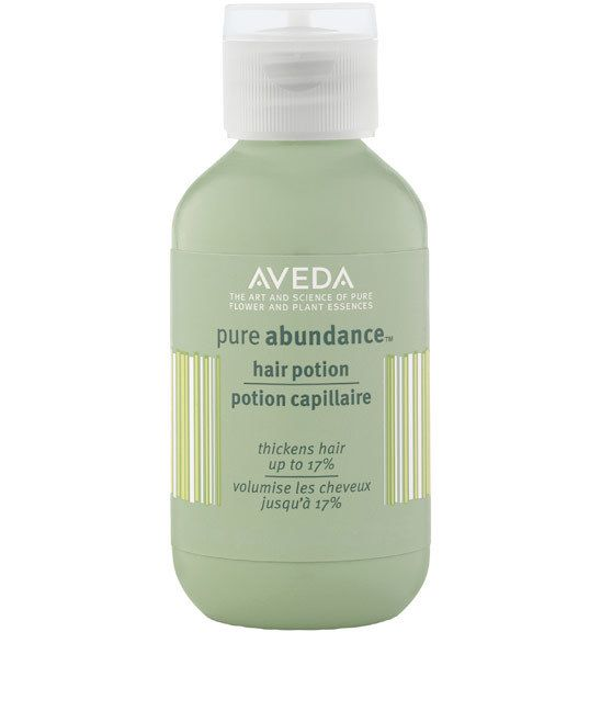 Aveda Pure Abundance Hair Potion, a powder that seriously thickens hair.