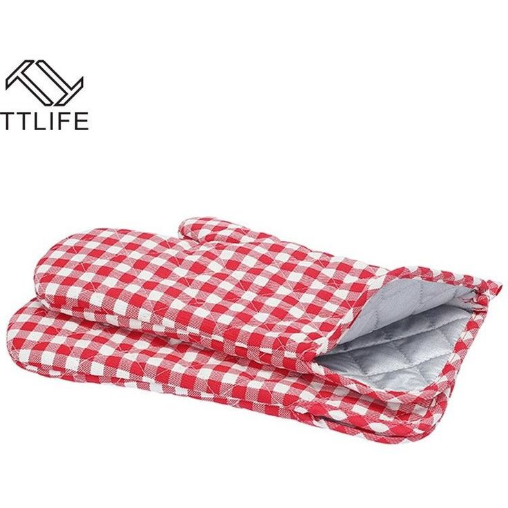 TTLIFE 1PC ANTI-SLIP HEAT RESISTANT PROTECTIVE GLOVE BBQ COOKING SINGLE GLOVE THICKEN OVEN MITTS KITCHENS TOOLS OVEN MITTS