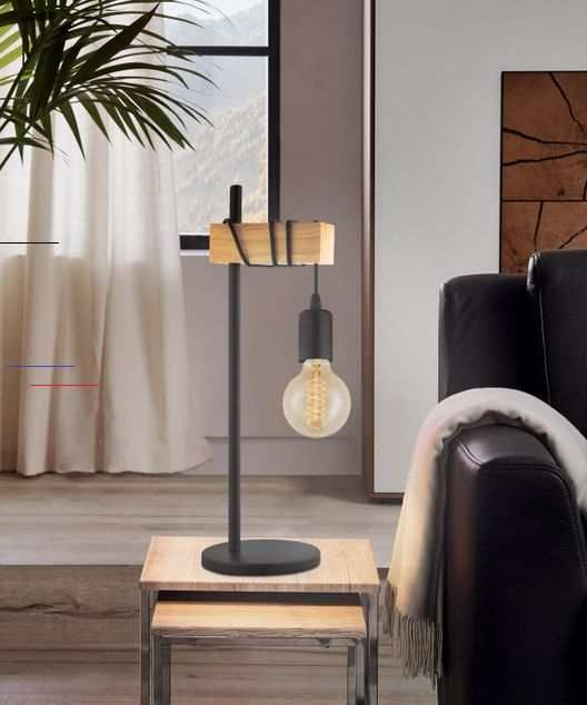Lampe Industriel Metal Noir Eglo Townshend I 2020 Belysning