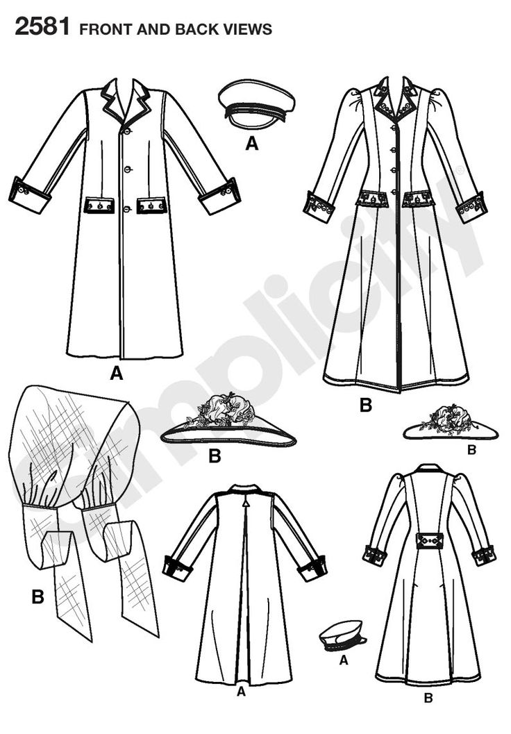 2581 Simplicity Pattern for Mal's Browncoat