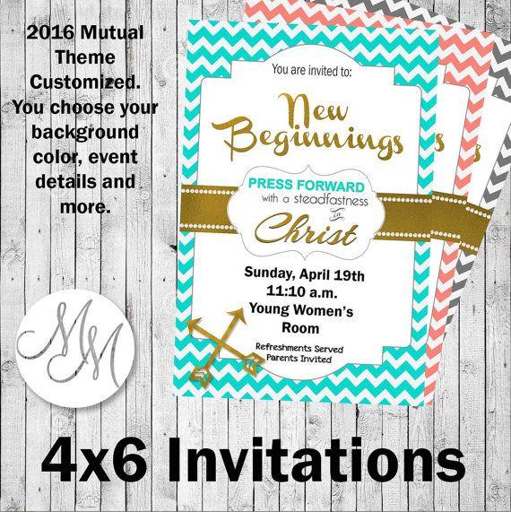 Press Forward New Beginnings Invitations 4x6 by MemoriesinMoments