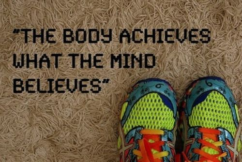 The body achieves what the mind believes. fitness weightloss motivation quote