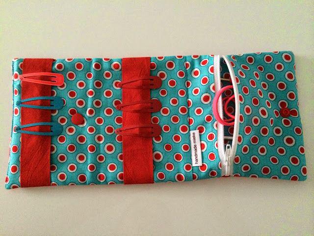 handmade mieke:  Haaraccessoiretasje HANDLEIDING keivolledig , zelfs met kamsnapinstructies erbij!