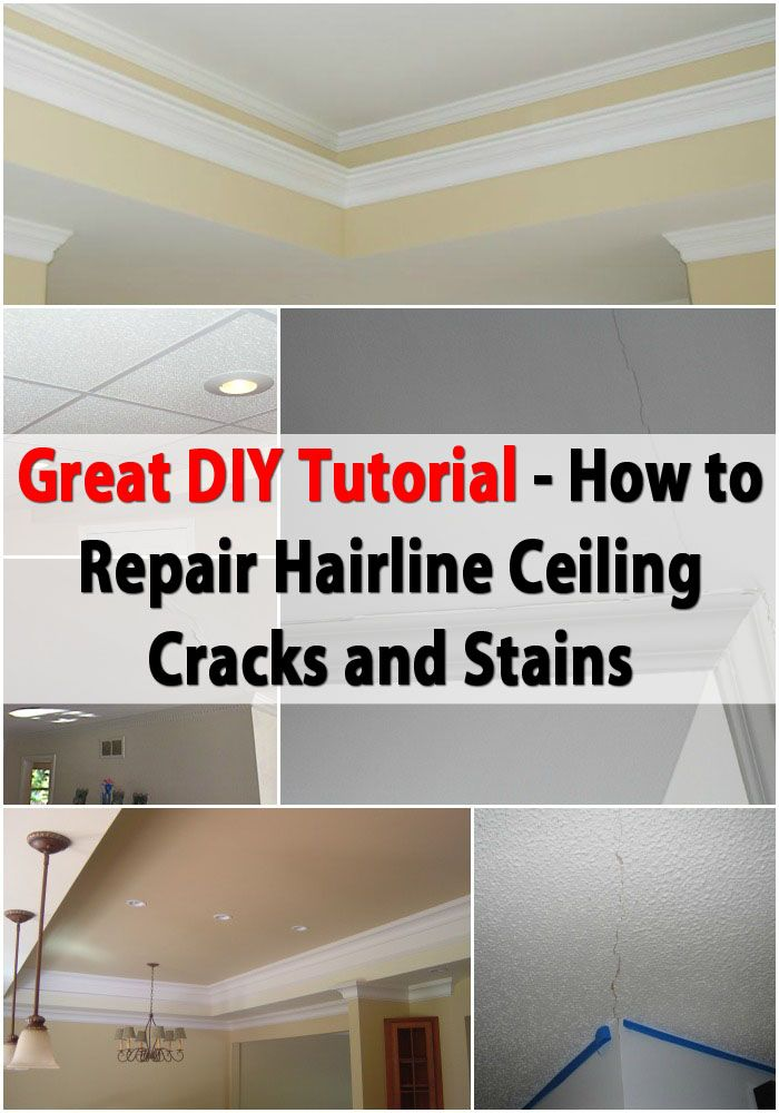 Great DIY Tutorial for Repairing Hairline Ceiling Cracks and Stains