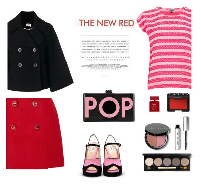 """""""Embelished wool skirt"""" by gul07 ❤ liked on Polyvore featuring Prada, Chloé, Edie Parker, Kerr®, ELLA, Mercy Delta, Bobbi Brown Cosmetics, Bella Freud and NARS Cosmetics"""