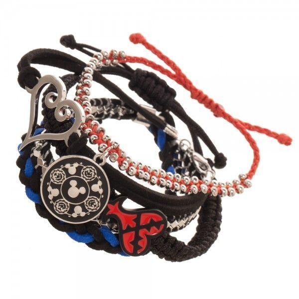 Kingdom Hearts Arm Party Bracelet Set Officially Licensed Disney Mickey Heart #Bioworld