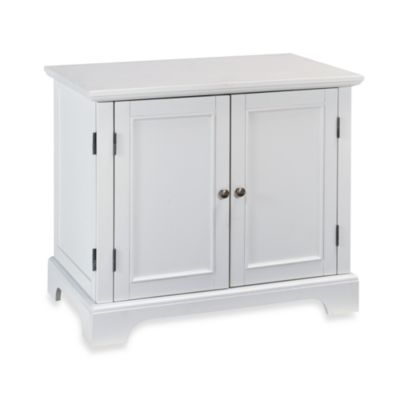 home styles naples white compact computer desk