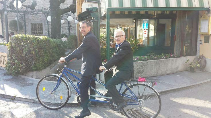Armando e Enzo pronti per iniziare a pedalare ... si parte ;-)  www.hotel-posta.it