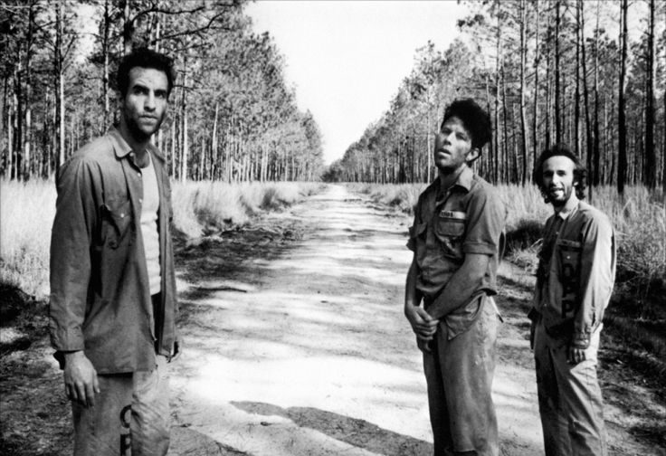 John Lurie, Tom Waits and Roberto Benigni in «Down by Law», directed by Jim Jarmush