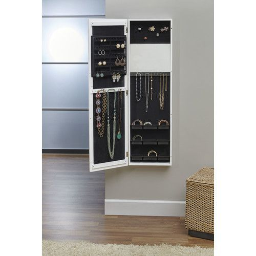 love this home of hampton riley wall mounted jewellery armoire with mirror