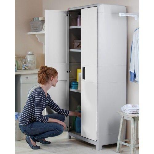 Garage Storage Cabinet Wonder Storage Cabinet Shelf System And Two-Winged Doors #Keter