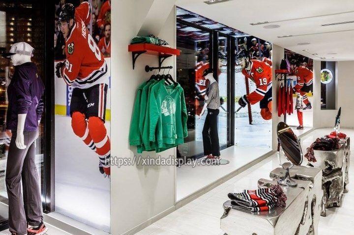 Retail Ice Hockey Store Display Furniture Hockey Jersey Shop Decoration Ideas Retail Design Blog Retail Store Design Retail Design