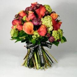 Calla Lillies, Roses, Astransia and Gelder Rose.