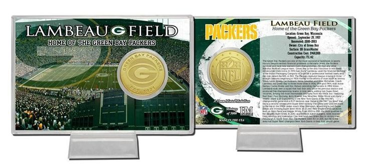 Green Bay Packers Bronze Coin Card - Stadium
