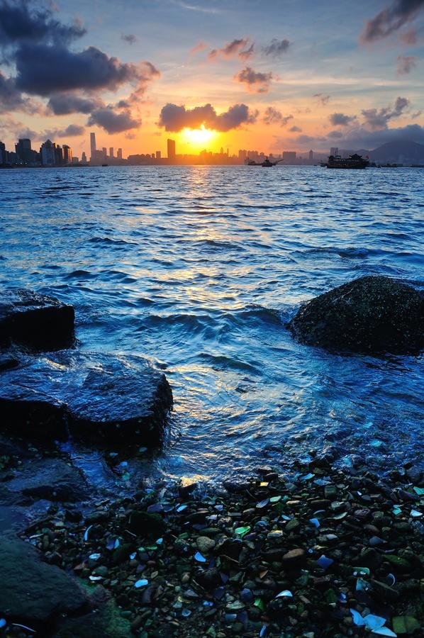 Victoria Harbour sunset, Hong Kong