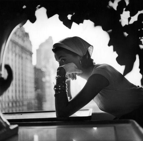 Nursemaid's Kerchief by Lilly Daché, New York, 1952, Gordon Parks