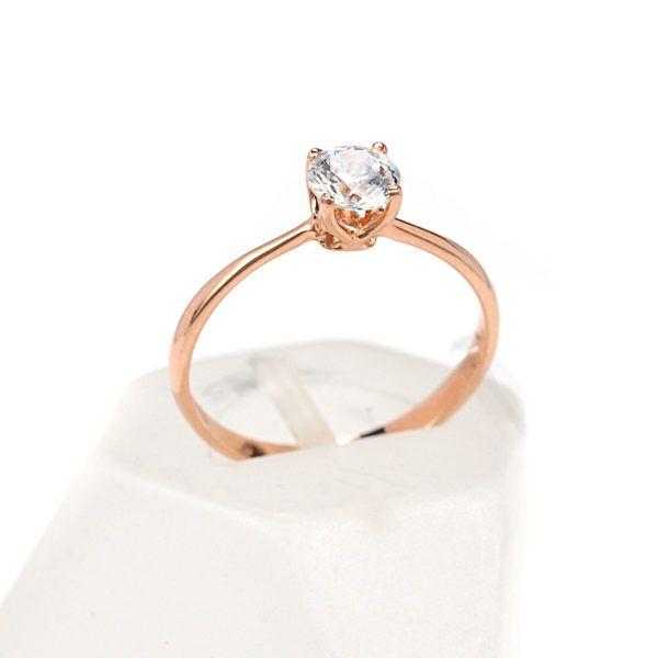 Μονόπετρο δαχτυλίδι Al'oro  Κ18 ροζ χρυσό  διαμάντι 1498