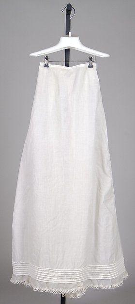 Petticoat, ca. 1820, British. Cotton. Brooklyn Museum Costume Collection at The Metropolitan Museum of Art (2009.300.8047)