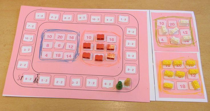 Desková hra bingo (násobilka 2) využili jsme již nepotřebné kartičky z MA pracovního sešitu. Hrají 2 až 4 hráči. Políčka se neškrtají, ale obsazují třeba kostkami z lega.