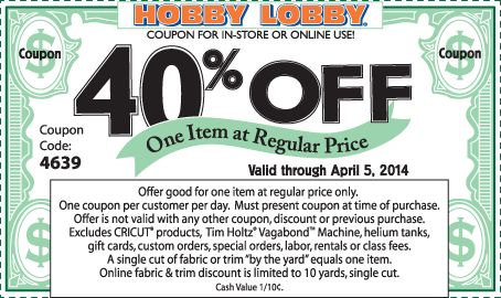 Hobby Lobby - Coupon Codes & Printable Coupons