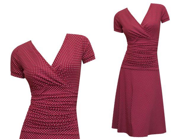 Das Kleid _Lizz_, hier in weinrot, ist ein zeitloser Klassiker, das zu jedem Anlass passt. In diesem Kleid sieht frau einfach immer gut aus. Das Highlight ist zweifellos das geraffte Mittelteil,...