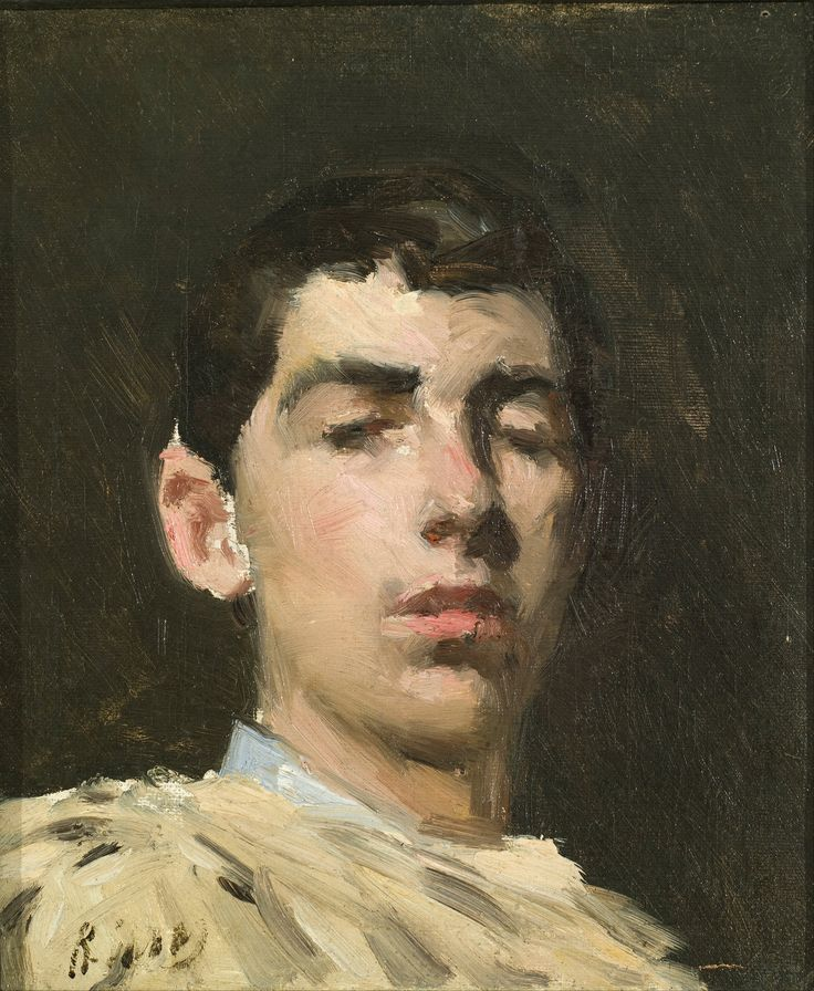 'Self portrait' by Ramon Casas i Carbó, 1882.