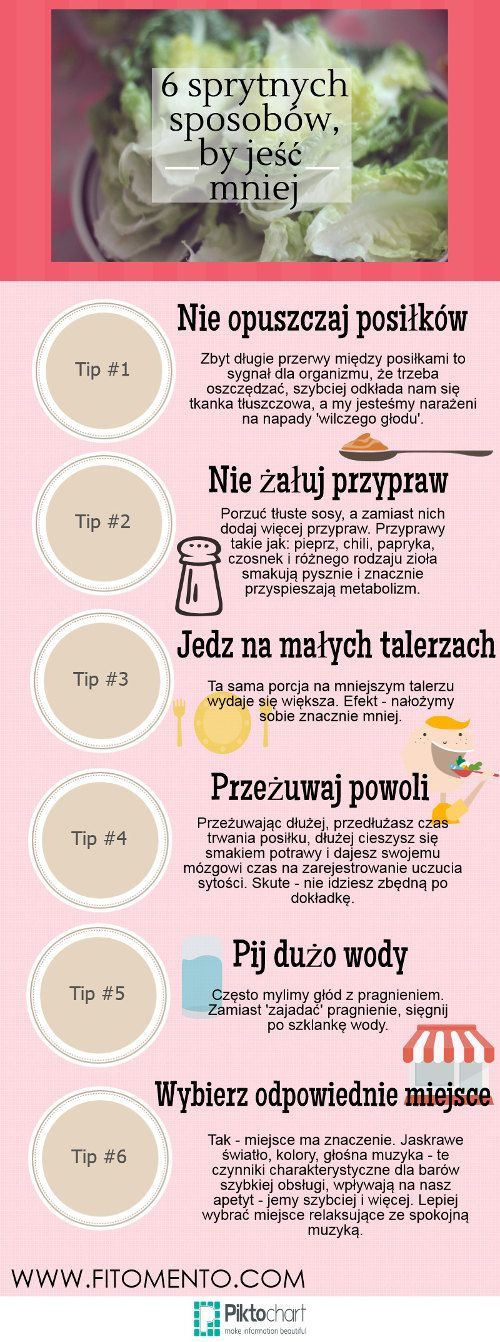 6 sprytnych sposobów, by jeść mniej.  Więcej na…