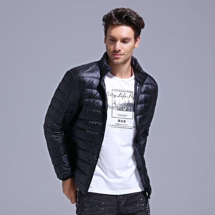 GustOmerD New Winter Men Down Jacket Fashion White Duck Down Jacket Warm Slim Fit Men Light. Click visit to buy