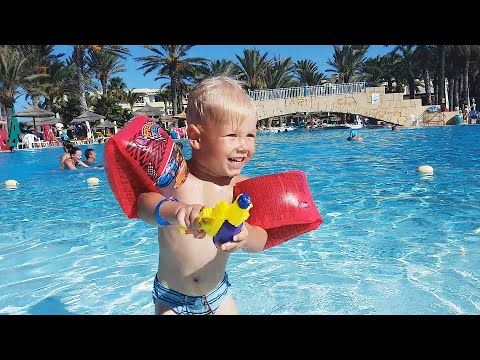 ТУНИС Бассейн в отеле Houda Golf and Beach club 🏊 TUNISIA Hotel pool #Пу...