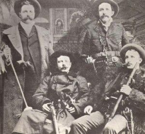 The Reno Gang, also known as the Jackson Thieves makes off with over $96,000 after robbing a train in Marshfield, Indiana as it arrived at its stop. During and after the Civil War the Reno Gang, whose members included the three Reno brothers, terrorized the Midwestern Railroads until 1868 when ten of the gang members were caught and lynched. The Marshfield train was the gang's fourth train and by far their largest haul. The gang was based at the Radar House hotel in Seymour, Indiana