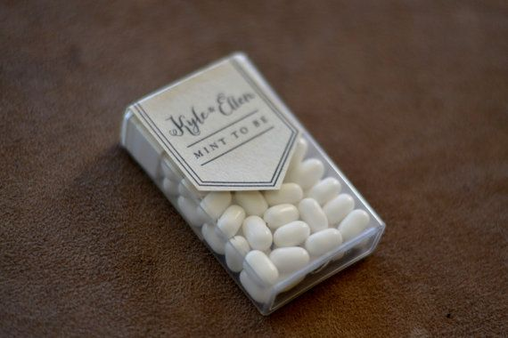 MINT TO BE  Tic Tac Wedding Favor Label by BrightHopeCreative