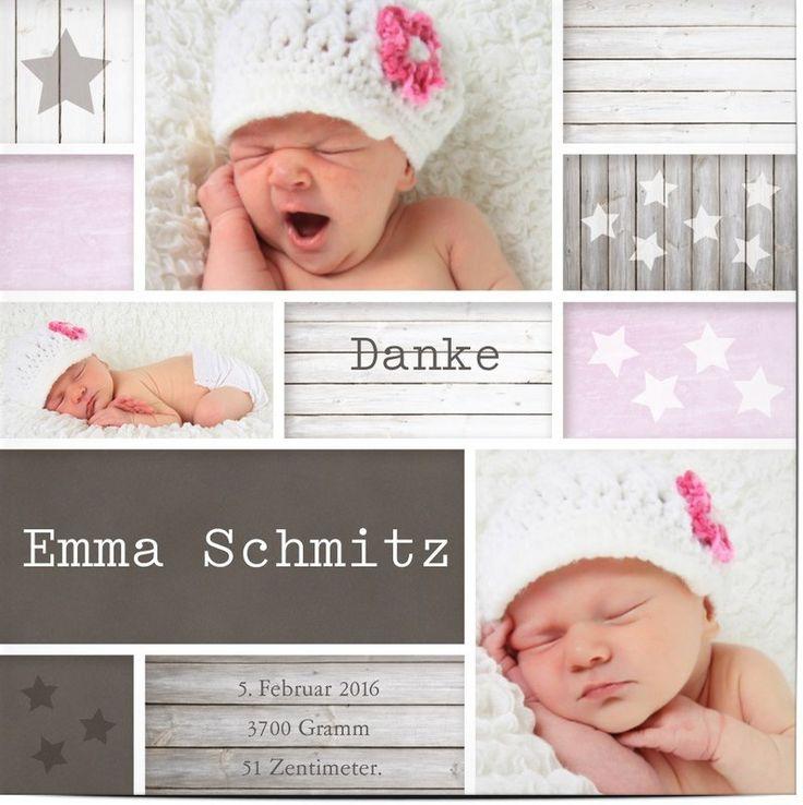 die besten 25 baby dankeskarten ideen auf pinterest geburtsmitteilung fotos geburtskarten. Black Bedroom Furniture Sets. Home Design Ideas